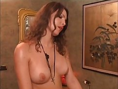 Attractive tranny takes off her shirt and gets deepthroats
