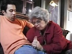 Asstastic brunette german granny knows how to fill wet p