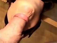 beautiful MILF bounces on hard shaft and gets a deep throat