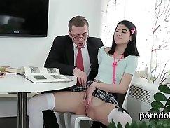 Amputee schoolgirl gets nailed by teacher hard