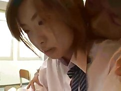 Student fucked in classroom by the tutor and then takes the boner