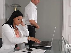 Ass fucked boss takes on the whole office
