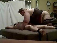 BBW femdom slave facialized