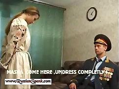 amateur russian spanking backyard
