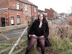 Amateur chubby solo masturbating to fake condom