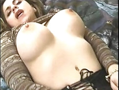 BBW with golden tits touches herself