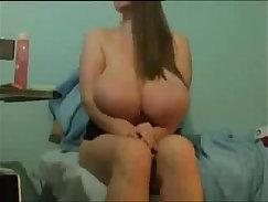 Big Natural Tits Babe Sister Licks Cam