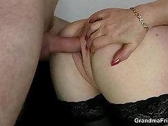 Cuntboy at office that has a thick cock is examined by a guy