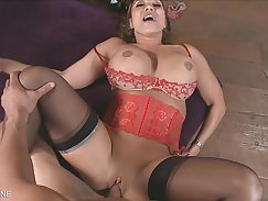 Big tits Milf cumming and POV sex with hitachi wand in palm of her hand