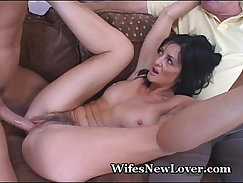 Curvy big tit mature wife share with younger man