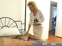 Aunt taking a big cock in all holes