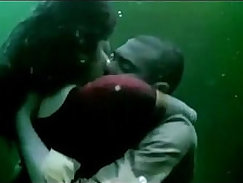 Babes plant kisses on someone's lips in porn