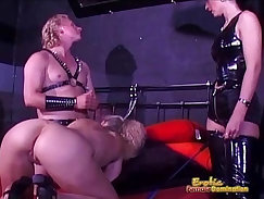 Blonde Girl Fucks Her Own Younger Slave