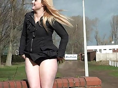 Amateur public flashing and sales girl Corybates angry