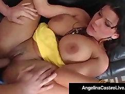 Big dicks latina angel performer with big titties gets pussy slammed