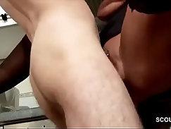 Busty stockings MILF seduces with cum