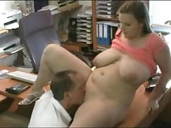 Chubby hottie Laywell get fucked in the office by the boss