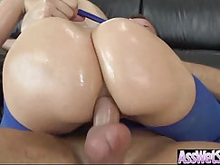 Anal assfucking of two nasty oiled whore