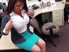 Busty MILF getting a proper waxing from her husband