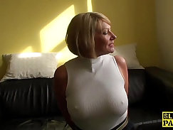 Big-tit mature bimbos is fucked in missionary pose