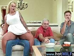 Black dude with big cock fucks horny MILF