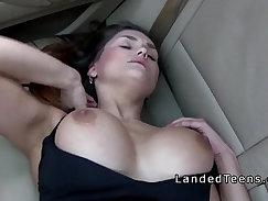 Brunette Teen Bitch Masturbates While Flashing Big Tits And Wants Fil