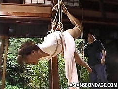 Asian tgirl fucked by her dong BDSM