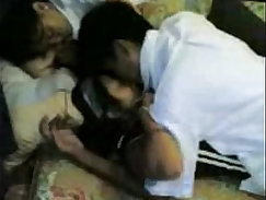 Schoolgirls enjoying hot sex with their classmates