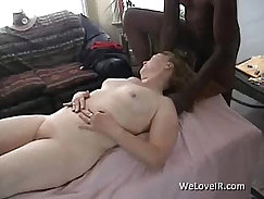 Beautiful young white girl craves the same trouble as mature black