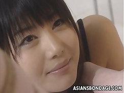 Bondage Asian lesbian roughly fucked