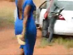 All natural booty ebony tgirl teasing her hot body