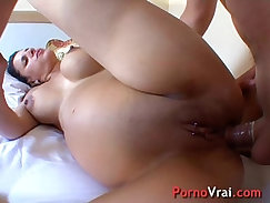Amateur French slut open tugs and then gets banged