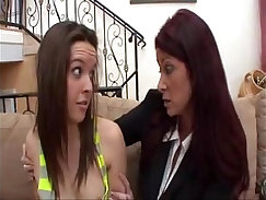 Busty Mom Phat ass teased against Step Daughter