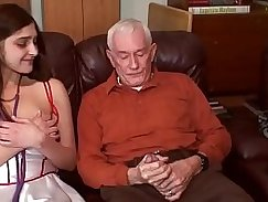 Kinky young brunette sucks her dong for the first time in her porn career