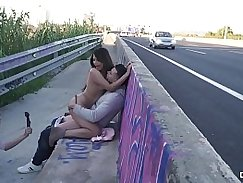 Outdoor Tritying with Boobs compilation