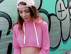 Teen tight vagina stretched in public