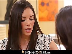 Mom inserts big dick into step daughter Athena