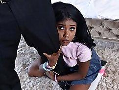 Black babysitter gets caught masturbating