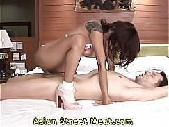 Petite Asian gets fucked by a horny guy