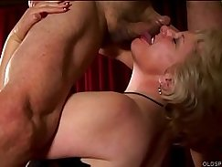 blonde girl wearing a nubian clothes gets facial cumshot