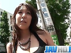 Busty Japanese housewife blowjob