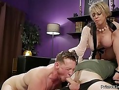 Big boobed milf tell her horny husband what she wants to do