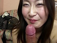 Unforgettable Japanese model has fucked blowjob