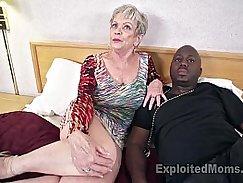 Mature grandma sucks huge black man cock