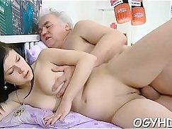 Sexy latina babe seduces young guy