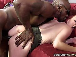 Black cock hungry ho double penetrated