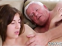 Busty young fuckers drilled