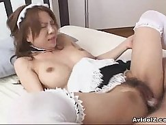 Gorgeous japanese babe rough and soon