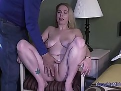 Hot slut fingered in bathroom