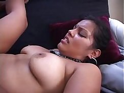 Huge Latin pussy babe bathes cumshot for you